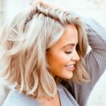 Модное окрашивание волос 2021 на короткие волосы блонд