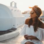 Как модно носить бандану девушке на голове в 2020